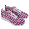 HOUNDSTOOTH1 WHITE MARBLE & PINK DENIM Men s Lightweight Sports Shoes View3