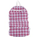 HOUNDSTOOTH1 WHITE MARBLE & PINK DENIM Foldable Lightweight Backpack View1
