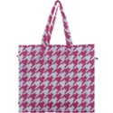 HOUNDSTOOTH1 WHITE MARBLE & PINK DENIM Canvas Travel Bag View1
