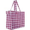 HOUNDSTOOTH1 WHITE MARBLE & PINK DENIM Canvas Travel Bag View3