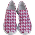HOUNDSTOOTH1 WHITE MARBLE & PINK DENIM Women s Lightweight Slip Ons View1