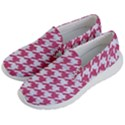 HOUNDSTOOTH1 WHITE MARBLE & PINK DENIM Women s Lightweight Slip Ons View2
