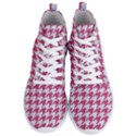 HOUNDSTOOTH1 WHITE MARBLE & PINK DENIM Men s Lightweight High Top Sneakers View1