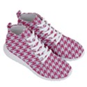 HOUNDSTOOTH1 WHITE MARBLE & PINK DENIM Men s Lightweight High Top Sneakers View3