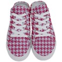 HOUNDSTOOTH1 WHITE MARBLE & PINK DENIM Half Slippers View1