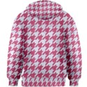 HOUNDSTOOTH1 WHITE MARBLE & PINK DENIM Kids Zipper Hoodie Without Drawstring View2