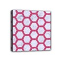 HEXAGON2 WHITE MARBLE & PINK DENIM (R) Mini Canvas 4  x 4  View1