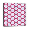 HEXAGON2 WHITE MARBLE & PINK DENIM (R) Mini Canvas 8  x 8  View1