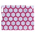 HEXAGON2 WHITE MARBLE & PINK DENIM (R) Apple iPad 3/4 Hardshell Case View1