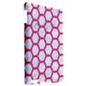 HEXAGON2 WHITE MARBLE & PINK DENIM (R) Apple iPad 3/4 Hardshell Case View2
