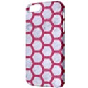 HEXAGON2 WHITE MARBLE & PINK DENIM (R) Apple iPhone 5 Classic Hardshell Case View3