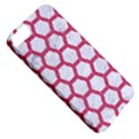 HEXAGON2 WHITE MARBLE & PINK DENIM (R) Apple iPhone 5 Classic Hardshell Case View5