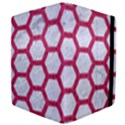 HEXAGON2 WHITE MARBLE & PINK DENIM (R) Apple iPad 2 Flip Case View4