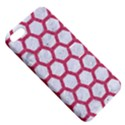 HEXAGON2 WHITE MARBLE & PINK DENIM (R) Apple iPhone 5 Hardshell Case with Stand View5