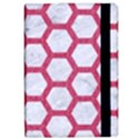 HEXAGON2 WHITE MARBLE & PINK DENIM (R) iPad Air Flip View2