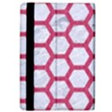 HEXAGON2 WHITE MARBLE & PINK DENIM (R) iPad Air Flip View4