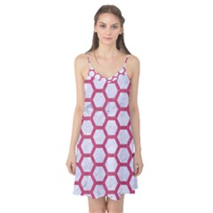 HEXAGON2 WHITE MARBLE & PINK DENIM (R) Camis Nightgown