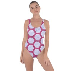 HEXAGON2 WHITE MARBLE & PINK DENIM (R) Bring Sexy Back Swimsuit