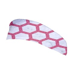 HEXAGON2 WHITE MARBLE & PINK DENIM (R) Stretchable Headband