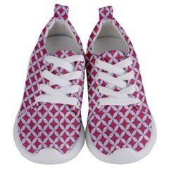 Circles3 White Marble & Pink Denim Kids  Lightweight Sports Shoes