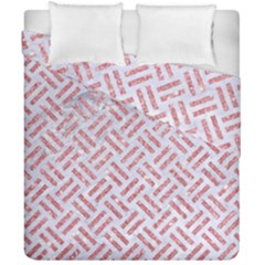 Woven2 White Marble & Pink Glitter (r) Duvet Cover Double Side (california King Size)