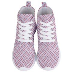 Woven2 White Marble & Pink Glitter (r) Women s Lightweight High Top Sneakers