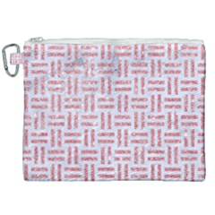 Woven1 White Marble & Pink Glitter (r) Canvas Cosmetic Bag (xxl) by trendistuff