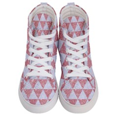 Triangle3 White Marble & Pink Glitter Men s Hi Top Skate Sneakers