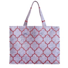Tile1 White Marble & Pink Glitter (r) Zipper Mini Tote Bag by trendistuff