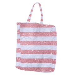Stripes2white Marble & Pink Glitter Giant Grocery Zipper Tote by trendistuff