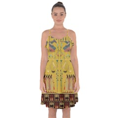Ghost Gear   Egyptian Goddess   Ruffle Detail Chiffon Dress by GhostGear