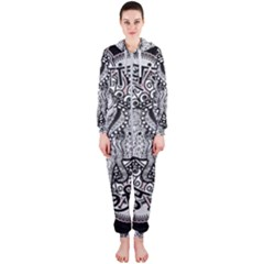 Ornate Hindu Elephant  Hooded Jumpsuit (ladies)  by Valentinaart