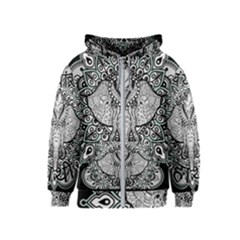 Ornate Hindu Elephant  Kids  Zipper Hoodie