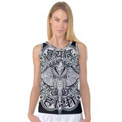 Ornate Hindu Elephant  Women s Basketball Tank Top