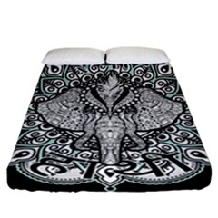 Ornate Hindu Elephant  Fitted Sheet (california King Size)