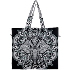 Ornate Hindu Elephant  Canvas Travel Bag by Valentinaart