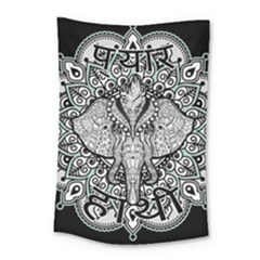 Ornate Hindu Elephant  Small Tapestry