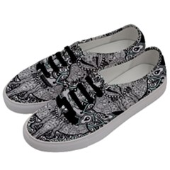 Ornate Hindu Elephant  Men s Classic Low Top Sneakers by Valentinaart