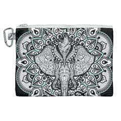 Ornate Hindu Elephant  Canvas Cosmetic Bag (xl) by Valentinaart