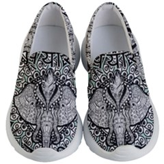 Ornate Hindu Elephant  Kid s Lightweight Slip Ons by Valentinaart