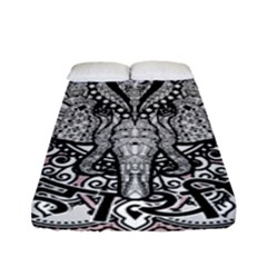 Ornate Hindu Elephant  Fitted Sheet (full/ Double Size)