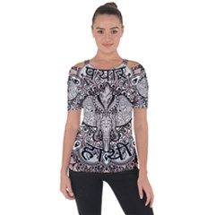 Ornate Hindu Elephant  Short Sleeve Top