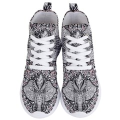 Ornate Hindu Elephant  Women s Lightweight High Top Sneakers by Valentinaart