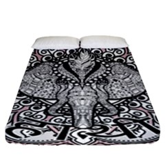 Ornate Hindu Elephant  Fitted Sheet (king Size)