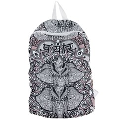 Ornate Hindu Elephant  Foldable Lightweight Backpack