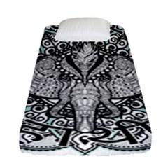 Ornate Hindu Elephant  Fitted Sheet (single Size) by Valentinaart