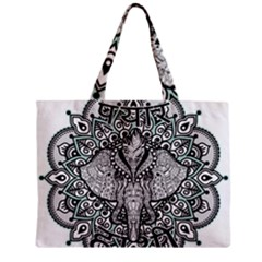 Ornate Hindu Elephant  Zipper Mini Tote Bag
