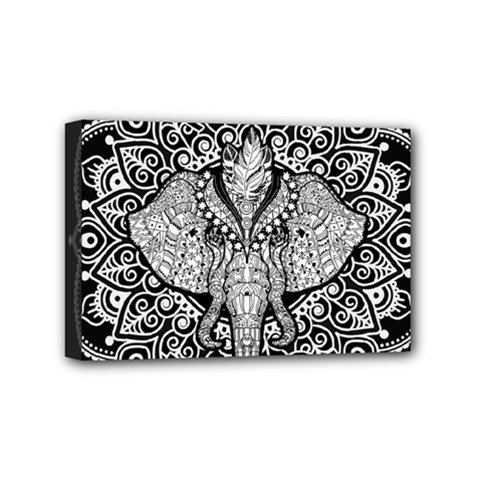 Ornate Hindu Elephant  Mini Canvas 6  X 4  by Valentinaart