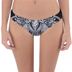 Ornate Hindu Elephant  Reversible Hipster Bikini Bottoms by Valentinaart