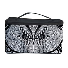 Ornate Hindu Elephant  Cosmetic Storage Case by Valentinaart